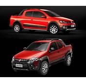 Fiat Strada X VW Saveiro Duelo Das Vers&245es Cabine Dupla