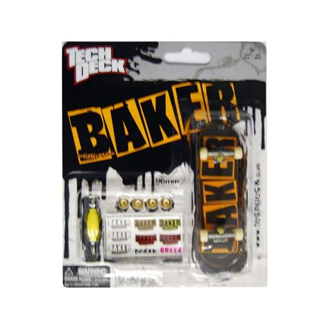 Tech Deck Fingerboard By B Toys tech deck fingerboard baker black orange 163 4 99