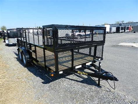 big tex 7 x 16 landscape utility trailer added accessories