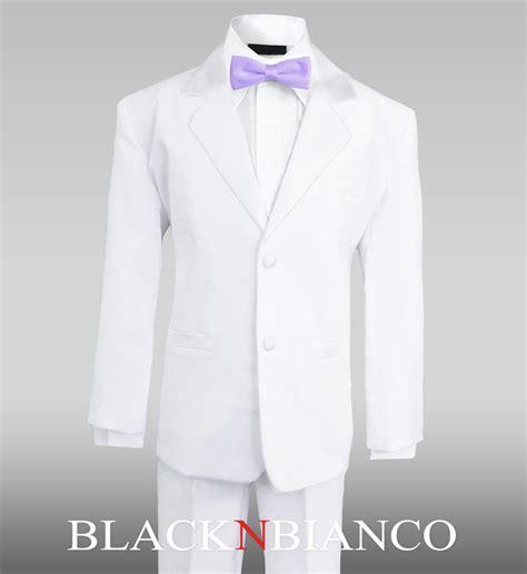 light purple tuxedos boy white formal tuxedo suit with light purple liliac bow