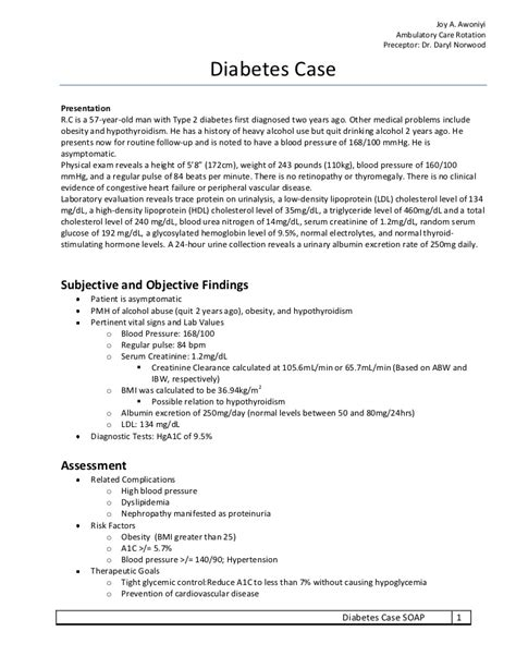 pharmacy soap note template diabetes soap note exercise