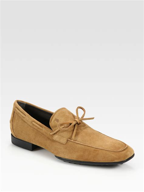 tods suede loafers tod s suede loafers in for lyst