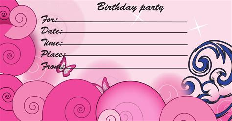 kids birthday invite template kid birthday invitation
