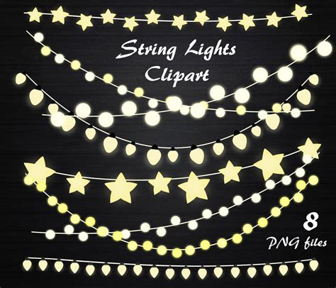 Clip String Lights by String Lights Clipart String Lights Clip Lights Clipart