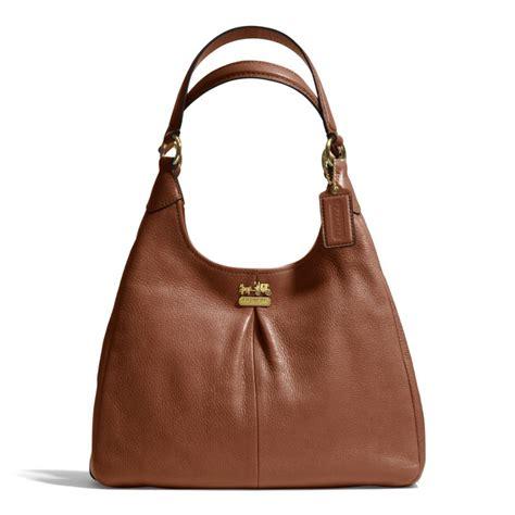 Shoulder Bag Coach coach maggie shoulder bag in leather in brown lyst