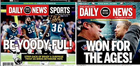philadelphia daily news sports section eagles win the super bowl daily news keepsake edition