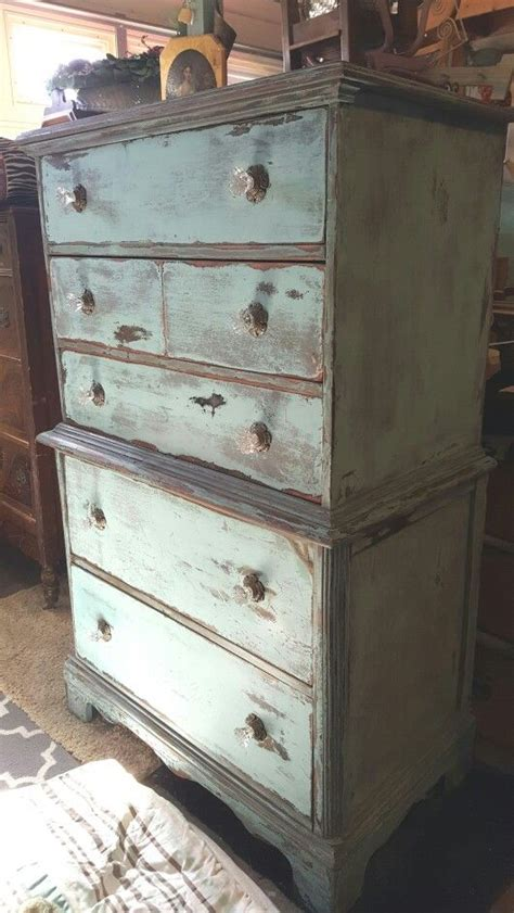 Cottage Decor 5730 by 1940 S Chest Farmhouse Cottage Heavy Distressed The
