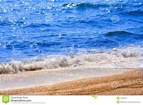 the sea close by sea beach close up stock photos image 15388913