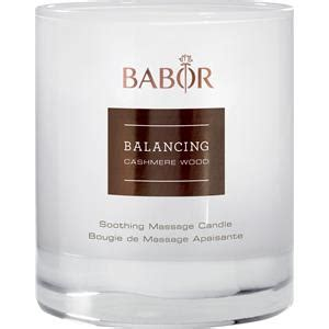 Suncare Glow Forte balancing wood soothing masage candle babor