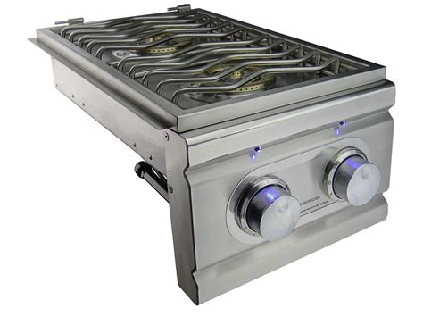 Lu Led Grill rcs stainless gas side burner slide in