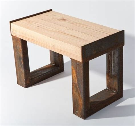 wood her bench custom reclaimed wood and scrap metal contemporary wood