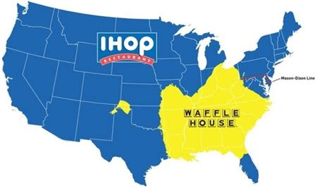 waffle house maryland do you live in ihop america or waffle house america geography education