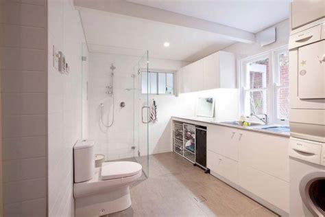 basement bathroom laundry room