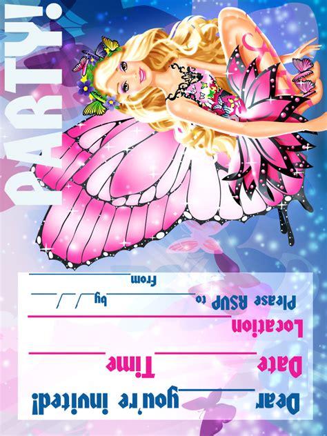 free printable birthday invitations barbie barbie coloring pages barbie printable invitations for a
