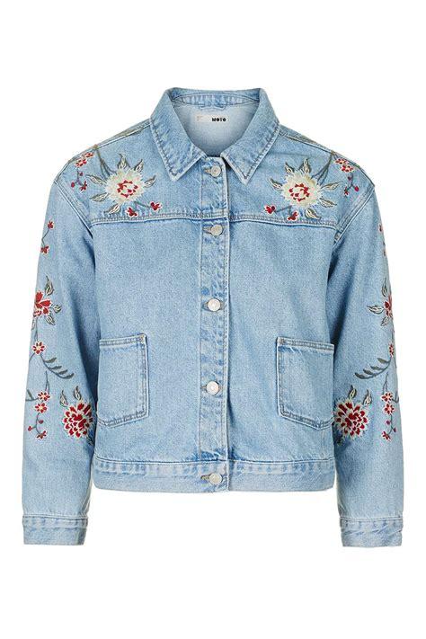 Embroidered Jacket moto embroidered jacket topshop usa