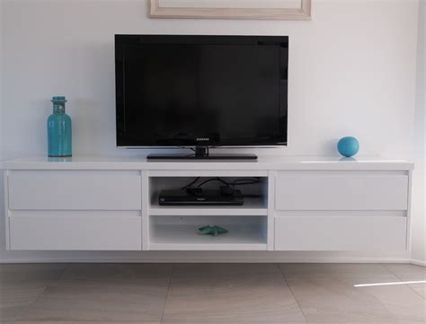 floating cabinet tv white gloss polyurethane floating tv cabinet with