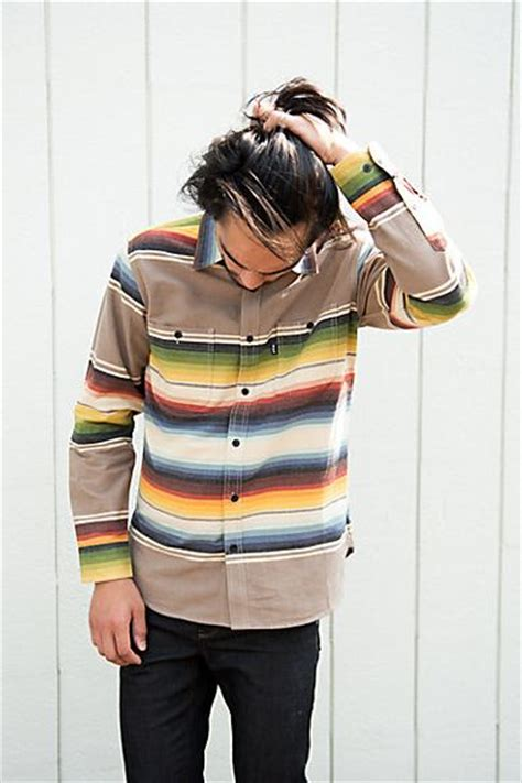 huf serape long sleeve button up shirt huf man style