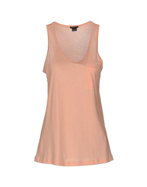 Salmon Top theory top in pink salmon pink lyst