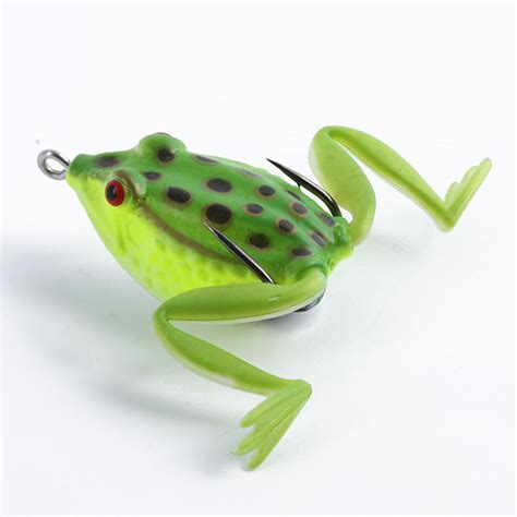 Soft Fishing Frog Lures Bass Baits Crankbaits Tackles Hooks 8 color soft rubber frog fishing lure crankbait bass bait tackle hook floating ebay