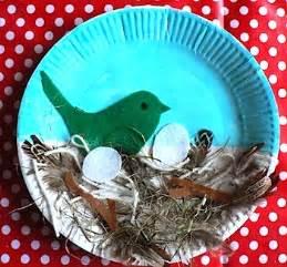 spring bird s nest paper plate craft preschool education