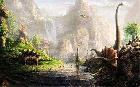 Landscape Artists Ks1 динозавры обои на рабочий стол 1680x1050 764845