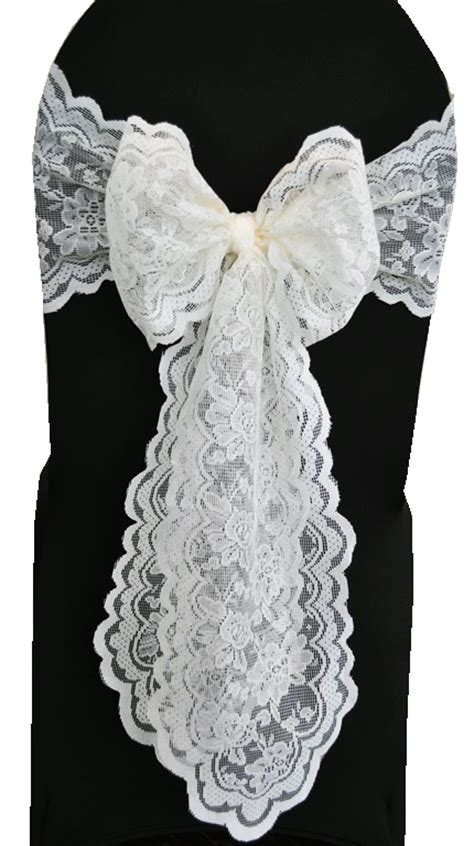 Lace Chair Sashes by Ivory Lace Chair Sashes Wedding Lace Chair Bow Ties