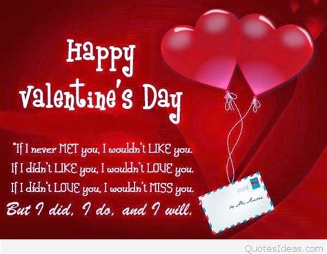 happy valentines day quotes in happy s day wish greeting quote 2016