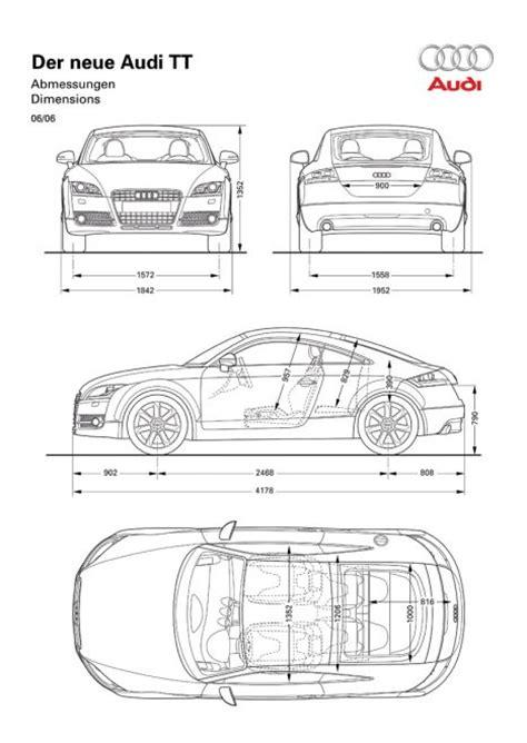 Audi Tt Technische Daten 2014 by Audi Tt Coup 233 Abmessungen Technische Daten L 228 Nge