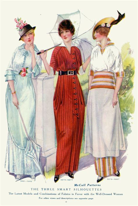 styles of 1914 vintage fashion plates from 1914