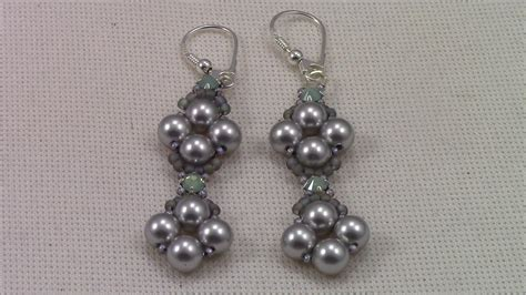 Pearl Handmade Jewelry - handmade jewelry pearl and montee earrings my crafts