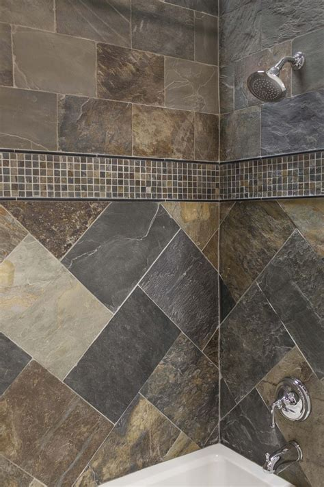 slate tile bathroom designs 30 best tile shower ideas images on bathrooms