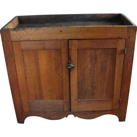 vintage dry sink cabinet primitive walnut dry sink cabinet sold ruby lane