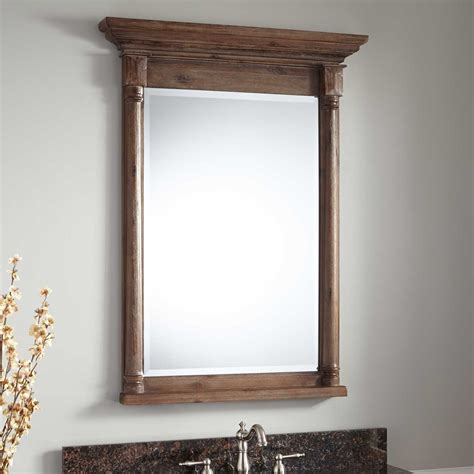 Vanity Mirror Rustic 30 Quot Neeson Vanity Mirror Rustic Brown Bathroom