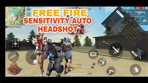 garena  fire sensitivity auto headshot youtube