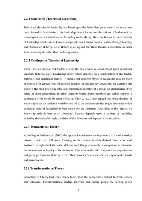 behaviorist research paper leadership and organizational behavior research paper