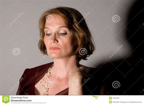 beautiful middle aged woman beautiful middle aged woman royalty free stock photography