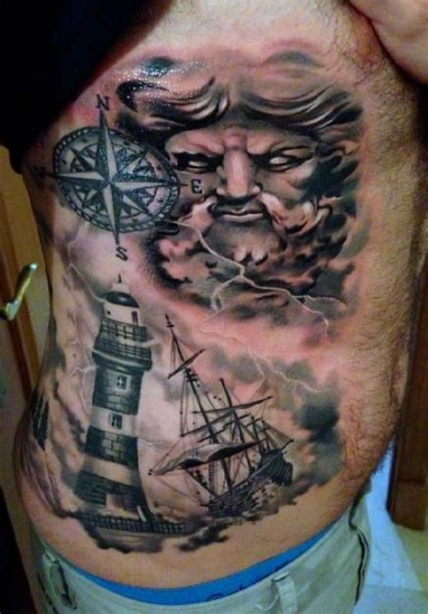 neptune tattoo designs neptune ship tattooed tattoos belly