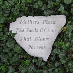 Garden Rocks With Sayings In Remembrance Quotes On Pinterest Garden Stones Memorial Stones And Memories