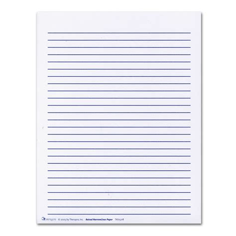 printable lined paper for visually impaired maxiaids raised lines paper narrow