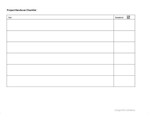 handover template form template handover template format
