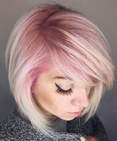 dyed bob hairstyles angled dyed bob hairstyle find astonishing angled bob