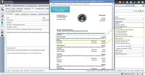 layout of email read about the benefits for the project manager in workbook