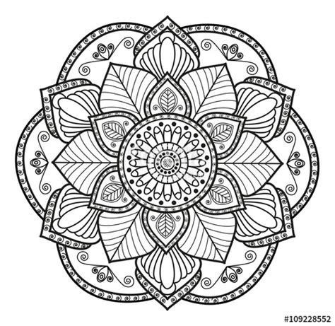 clipart da colorare quot black and white mandala vector for coloring mandala in
