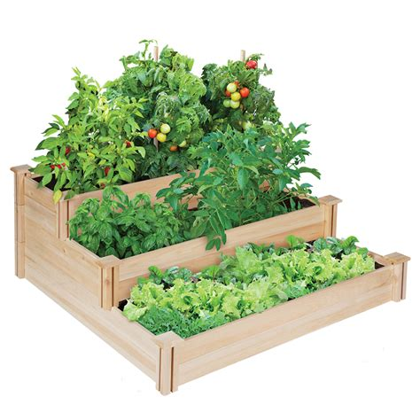 vegetable bed greenes fence company3 tier cedar raised garden kit