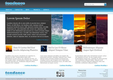 sharepoint layout design exles tendance free sharepoint 2010 theme best sharepoint