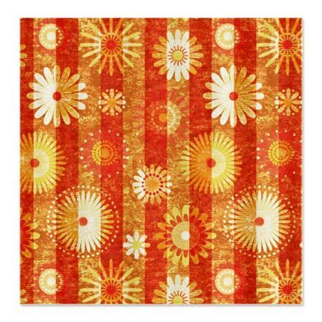 orange flower shower curtain vintage orange flowers shower curtain home decor