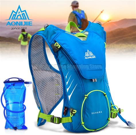 Aonijie Hydration Backpack E884 Trail Marathon Running Blue hydration backpack water bag marathon outdoor running