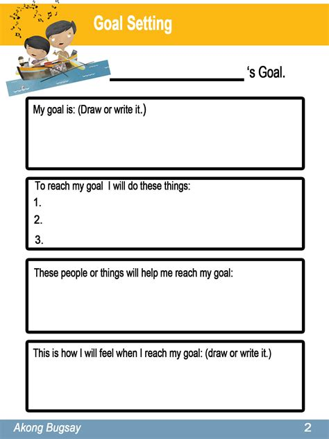 templates for goal setting uncategorized goal setting worksheet template