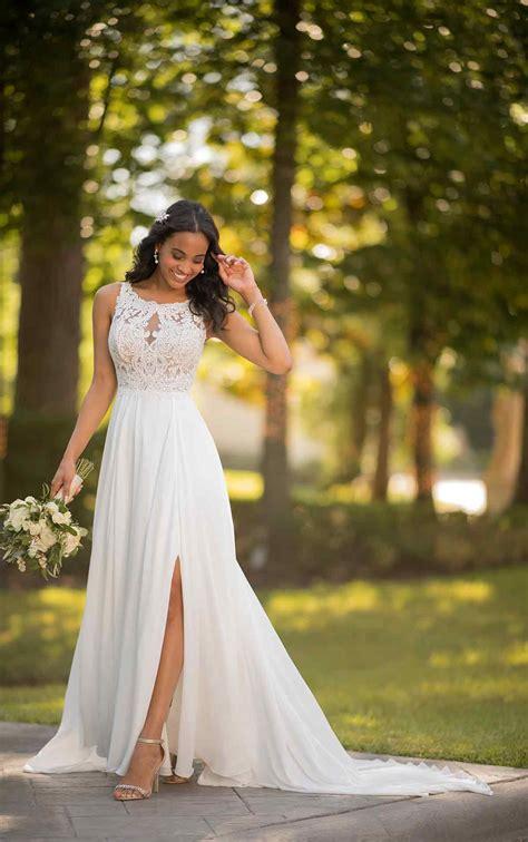 casual wedding dress  slit stella york wedding dresses