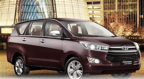 toyota innova price in india top model toyota innova crysta petrol price range specifications
